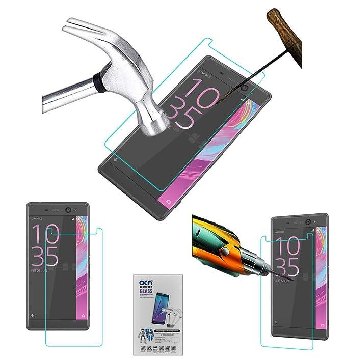 Acm Tempered Glass Screenguard for Sony Xperia Xa Ultra Screen Guard Scratch Protector Screen guards