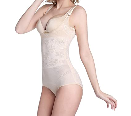 b1bcd1ea1ca Amazon.com  Kent Fred Underwear Bodysuit Women Control Pants Waist Trainer  Slimming Shaper  Clothing