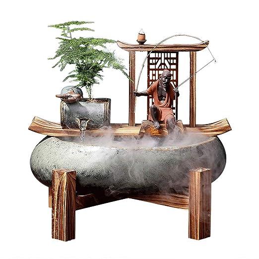 Fuentes de Interior Fuente de cerámica cubierta Zen fuente de ...