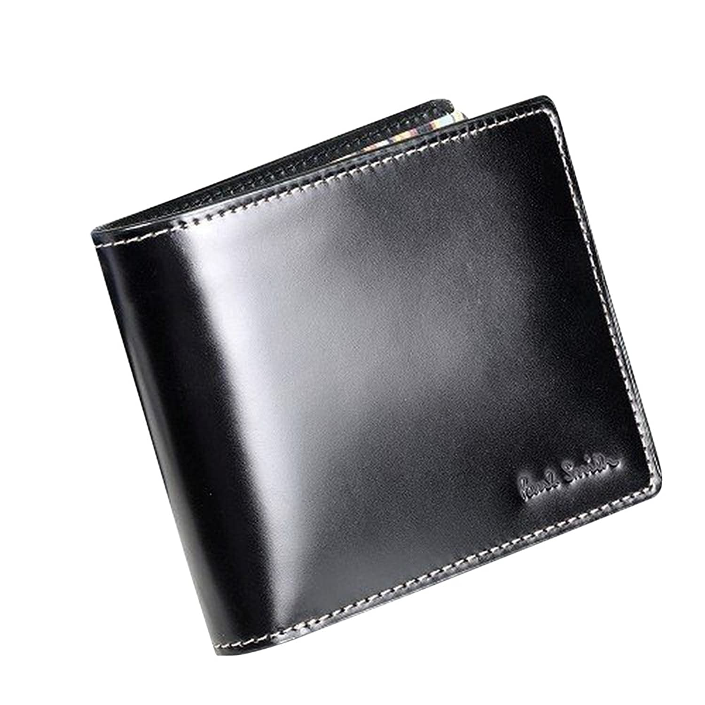 ポールスミス Paul Smith 二つ折り財布 馬革 /小銭入れ付き ブラック(箱なし) B00LN0O76E