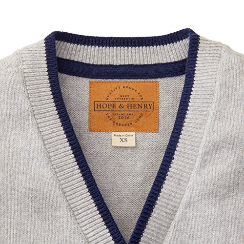 Hope & Henry Boys' Grey Cardigan Sweater Made with Organic Cotton by Hope & Henry (Image #1)