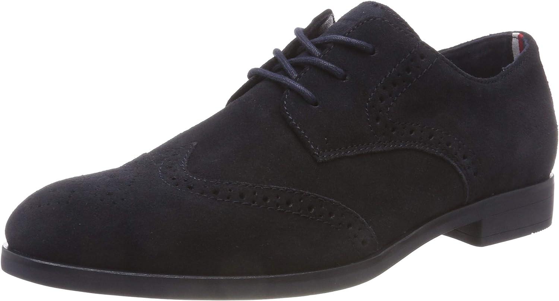 TALLA 44 EU. Tommy Hilfiger Dressy Casual Suede Shoe, Zapatos de Cordones Oxford para Hombre