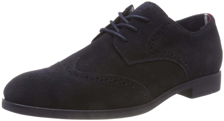 Tommy Hilfiger Dressy Casual Suede Shoe, Zapatos de Cordones Oxford para Hombre