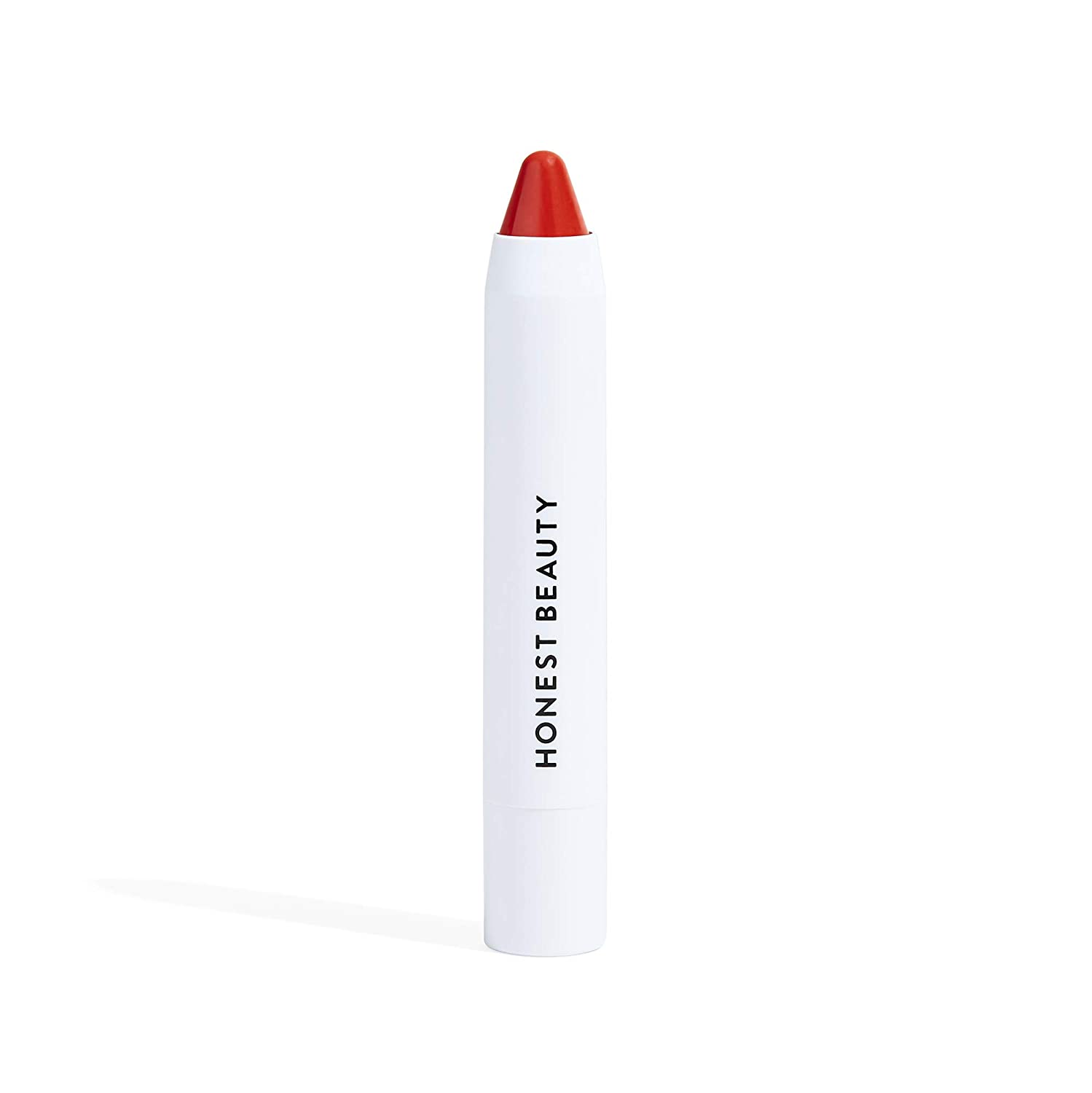 Honest Beauty Lip Crayon-Lush Sheer, Coral | Sheer Color & Subtle Shine with Coconut Oil & Shea Butter | Paraben Free, Silicone Free, Dermatologist Tested, Cruelty Free | 0.105 oz.