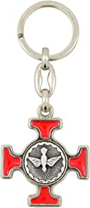 """NEW Confirmation Gifts of the Holy Spirit on Back of Medal Key Chain Ring 2.5/"""" L"""