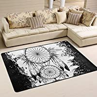 DEYYA Modern Polyester Fabric Area Rug,Dream Catcher Owl Carpet Living Room Bedroom Rug for Children Play Solid Home Decorator Floor Rug 36 x 24 Inch