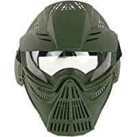 YVSoo Leader Shaped Tactical Mask CS Soft Bullet Dart Outdoor Field Operation Protective Mask for Nerf(Eyeglass Version…
