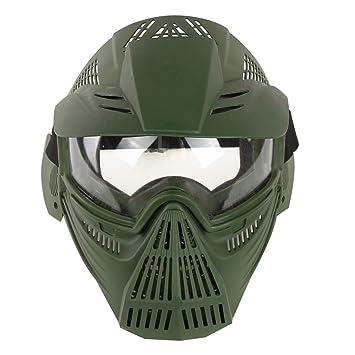 YVSoo Máscara Táctica Airsoft, Máscara Facial Táctica Protectora Máscara Casco para Nerf CS Juego,