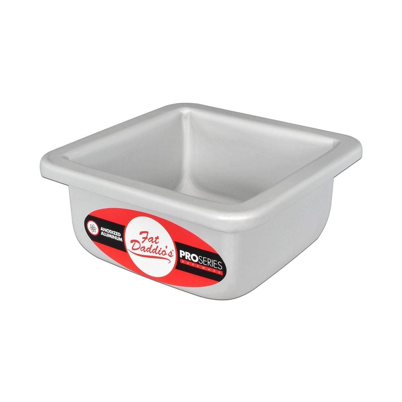 Fat Daddio's PSQ-332 Anodized Aluminum Square Cake Pan, 3 x 2 Inch