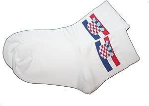 Croatia Hrvatska White Country Flag Dress Socks Size 10-13 .. New