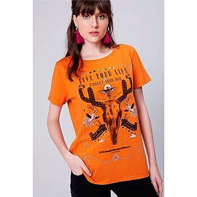Camiseta Estampada Feminina  Amazon.com.br  Amazon Moda 5b13caf8bb5