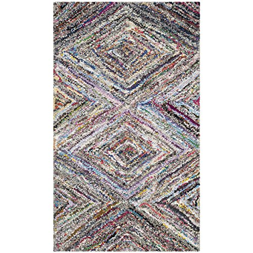 Safavieh Nantucket Collection NAN314A Handmade Abstract Geometric Diamond Multicolored Cotton Area Rug (2'3