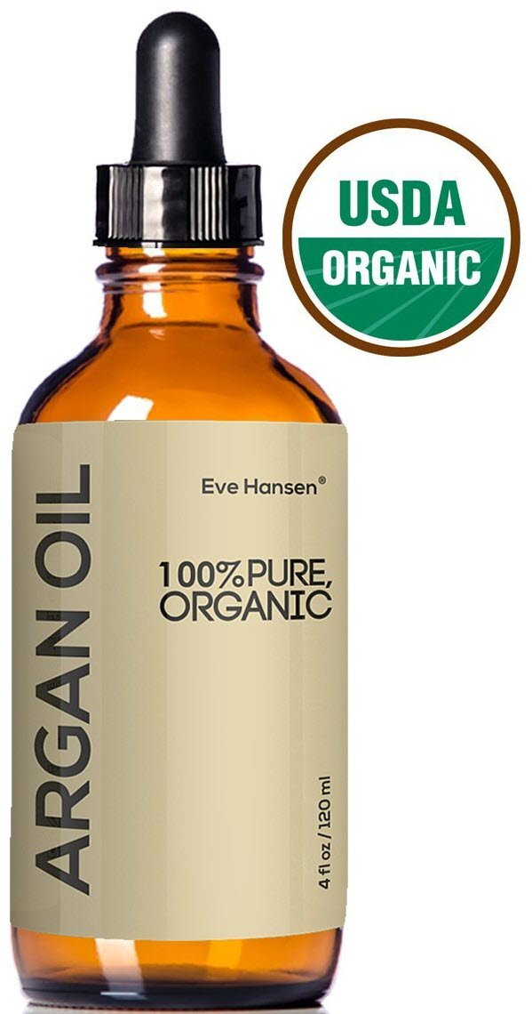USDA Certified Organic Argan Oil by Eve Hansen - Moisturizing Pure Moroccan Argan Oil For Skin, Hair, and Nails - 4 Ounces.