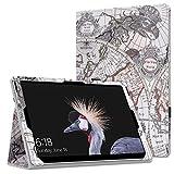 "Microsoft Surface Pro 4 Case - MoKo Slim Folding Cover Case for Microsoft Surface Pro 4 12.3"" / Surface Pro 3 12"" Tablet, Map B"