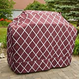 Great Bay Home Grill Cover Heavy-Duty, Waterproof Premium BBQ Gas Grill Cover for Medium Grills of All Brands. (Red)
