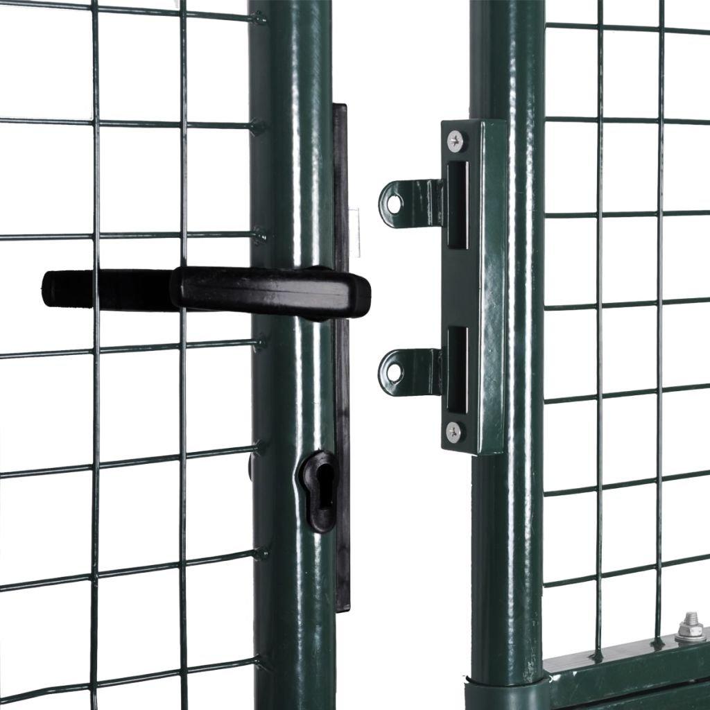 Gartentor Gartent/ür Zauntor Doppeltor aus pulverbeschichtetem mit 3 Passenden Schl/üsseln Stahl 306 x 200 cm Festnight