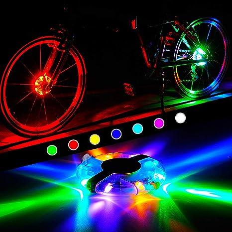 WAYNEWON Luces Recargables para Rueda de Bicicleta, Luces LED ...