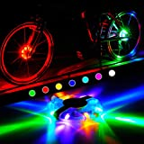 Bike Hu-b Spoke Light Bicycle Front Wheel Lamp Rechargeable Cycling Lights Z2F2