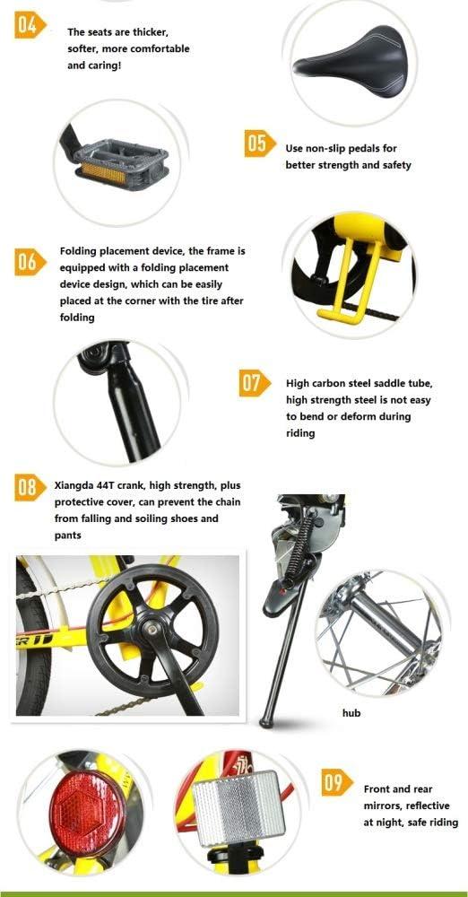 ZLXLX Bicicleta Plegable para Hombres Y Mujeres Adultos Ultraligero PortáTil Mini PortáTil Mini Bicicleta Bicicleta Plegable, Adecuada para Desplazamientos, Viajes, Compras, Deportes, Etc. / ?: Amazon.es: Bricolaje y herramientas