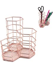 Desk Accessories & Organizer New Stick On Desktop Pen Holder Makeup Storage Pot Case Plastic Desk Organizer Stationery Holder Pencil Vase #63 Pen Holders
