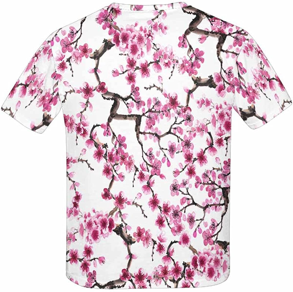 INTERESTPRINT Kids T-Shirt Flowers of Sakura XS-XL