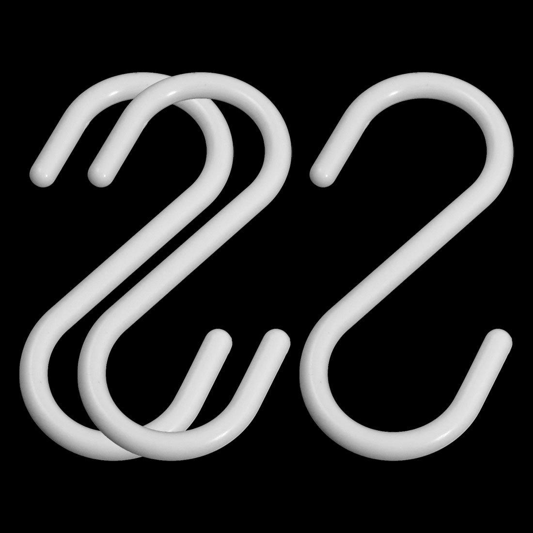 Mé nage Blanc S Crochets Vê tements Serviette Hanger rack support suspendu 3 Sourcingmap a13030500ux0400