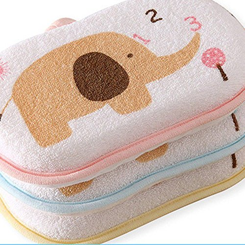 Baby towel accessories Baby Kids Bath Brushes Bath Sponge Baby Shower Sponges (Pink)