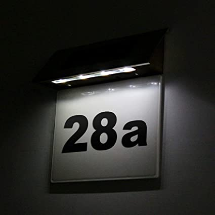 Solar Hausnummer LED von Paulmann mit Dämmerungssensor Hausnummerleuchte