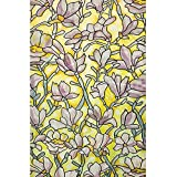 Bloss Trendy Floral Decorative Window Film No-Glue Static Cling Stained Glass Window Cling 17.7-inch by 78.7-inch