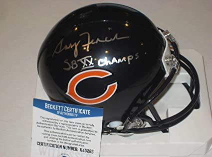 f468bd0ca6a Gary Fencik Signed Mini Helmet - w Beckett WItnessed COA & Inscrip -  Beckett Authentication -