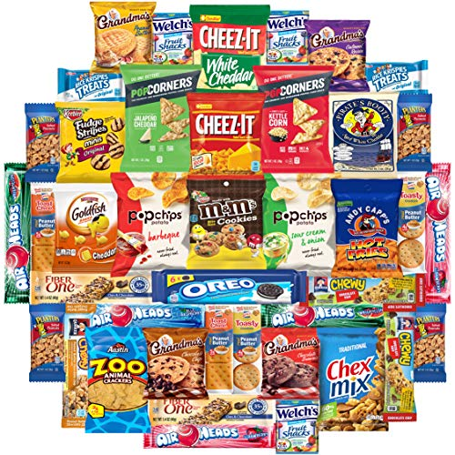 - Cookies Chips & Candies Snacks Variety Pack Bulk Sampler Assortment (Care Package 42 Count)