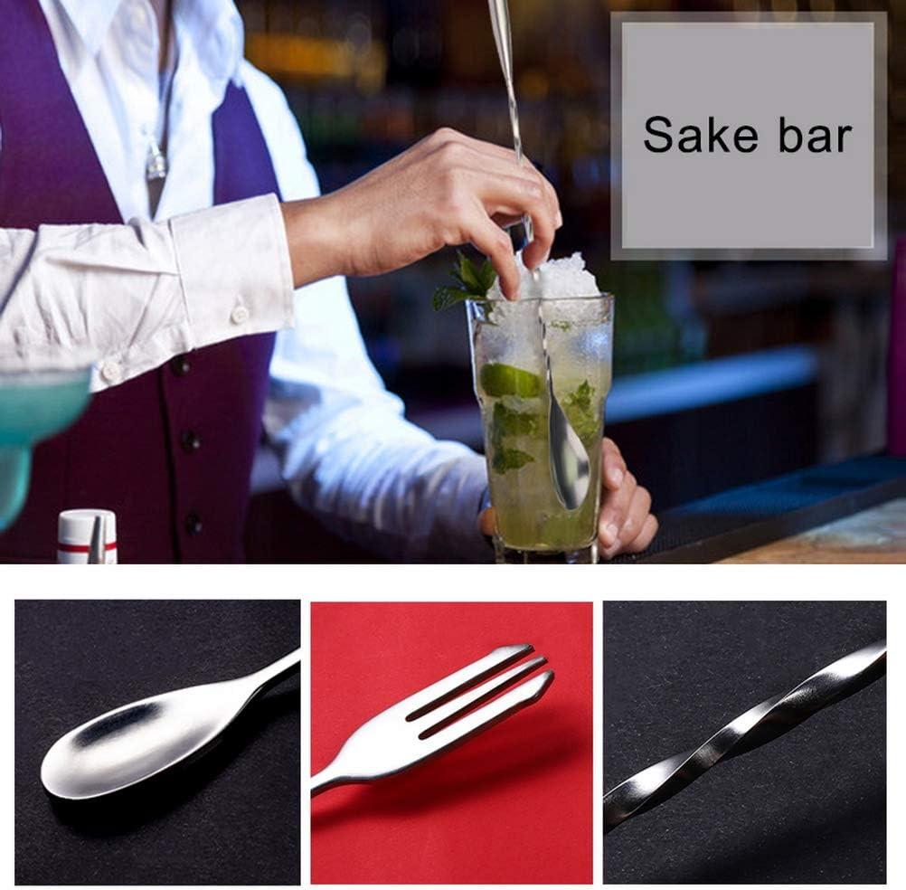 Nuosen - Juego de cócteles y cuchara mezcladora de acero inoxidable con espíritu de barra Jigger 25/50 ml DIY para cócteles