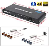 Amazon Price History for:3D 4K x 2K 1x4 HDMI Splitter,1 port HDMI Input 4 ports HDMI Output Video Switcher,Support HDMI 1.4a + HDCP 1.4 / Full HD 1080P / 1080P 3D / DTS HD / Dolby true HD / LPCM 7.1 / DTS / Dolby AC3 / DSD
