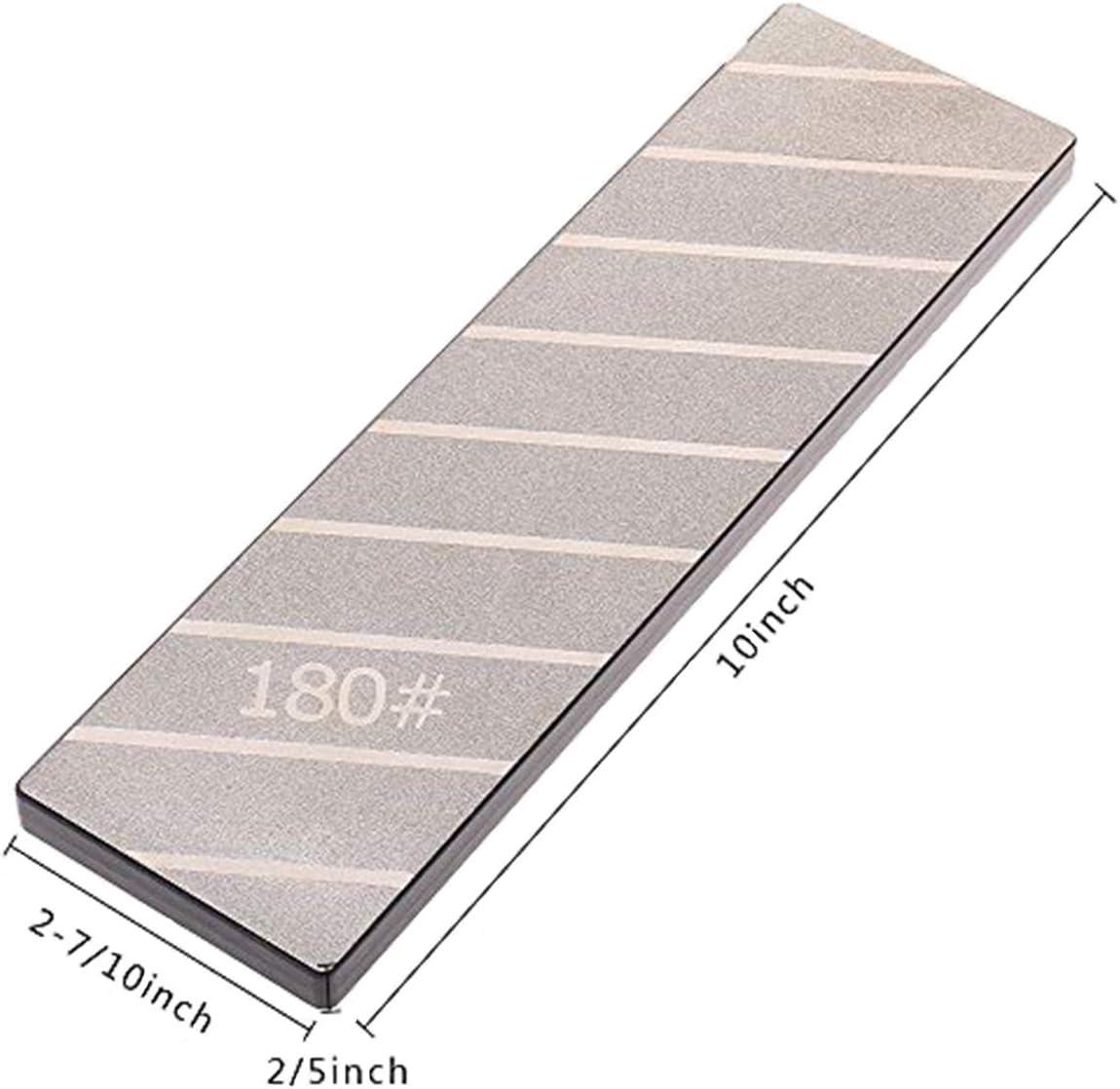 Diamond Flattening Stone Lapping Plate Single-Sided 180Grit Diamond Sharpening Plate Fixing Stone Flattener 254 /× 79 /× 15mm