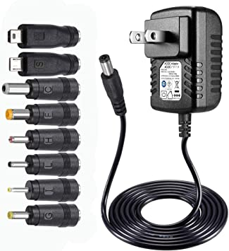 DC 5V 1.2A AC Adapter Charger Power Supply for LED Strip Light CCTV 2.1mm*5.5mm
