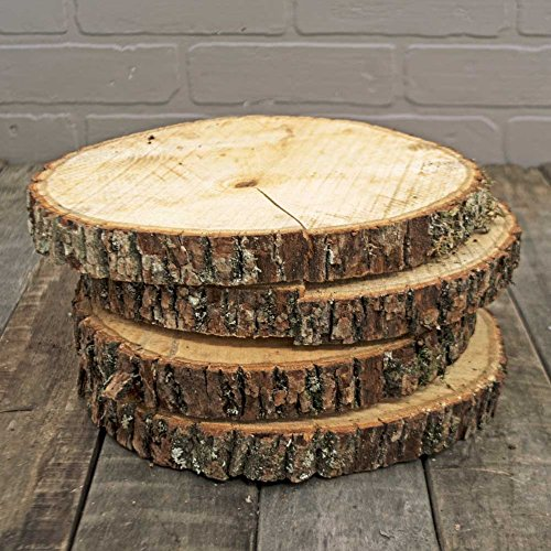 Natural Wood Slices Round Basswood Slabs 9 To 11 Inches