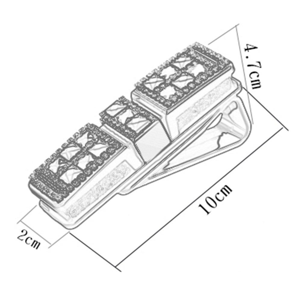 A.B Crew Universal Rhinestone Car Glasses Clip Rotatable Sunglasses Holder Clip Ticket Cards Clip