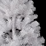 7ft White Christmas Tree Traditional Artificial Tree 800 Tips with Metal Stand 2.1m 210cm