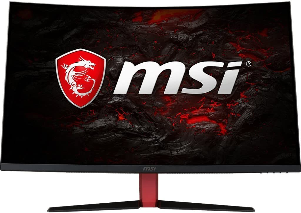 "MSI Full HD Gaming Red LED Non-Glare Super Narrow Bezel 1ms 1920 x 1080 165Hz Refresh Rate Free Sync 32"" Curved Gaming Monitor (Optix AG32C), Black"