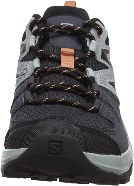 Salomon X Radiant W, Zapatillas de Senderismo para Mujer, Gris/Rosa (Ebony/Quarry/Tawny Orange), 42 EU: Amazon.es: Zapatos y complementos