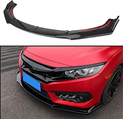Carbon Fiber Rear Bumper Protect Frame Molding Fit For Honda Civic 2016-2018