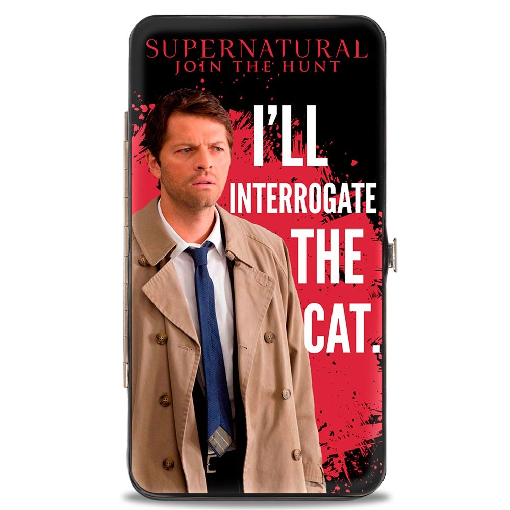 Buckle-Down Buckle-Down Hinge Wallet - Supernatural Accessory, -Supernatural, 7 x 4 7 x 4 HW-SNJ