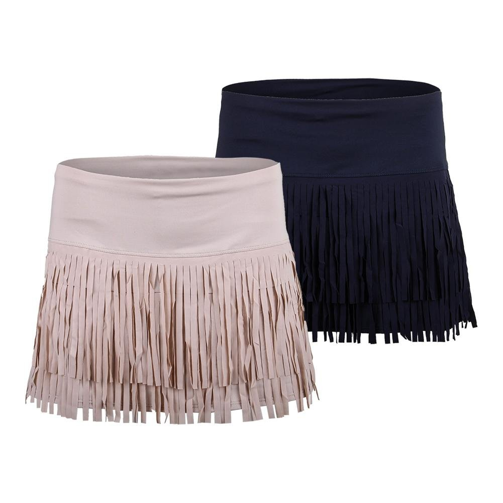 Lucky in Love Fringe Skirt-Large-Beige