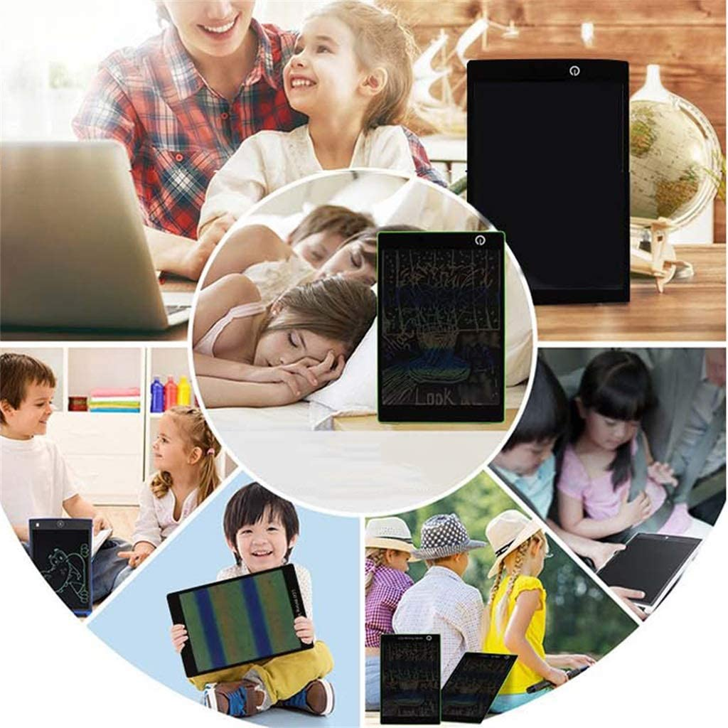 Green One-Click Delete Color Drawing Board Touch Office Children Memo 9.7 Inch LCD Writing Board//Light Energy Small Blackboard