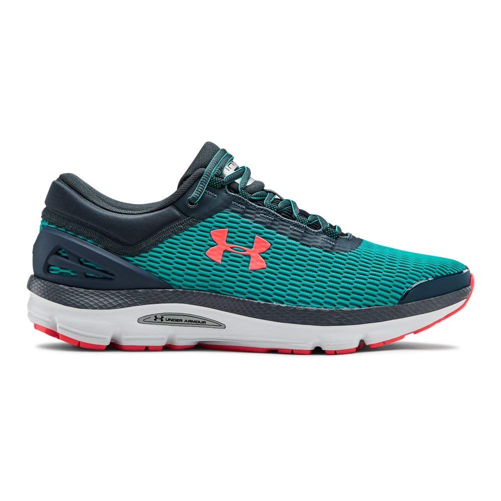 Under Armour Men's Charged Intake 3 Running Shoe, Teal Rush (300)/Halo Gray, 9.5 by Under Armour