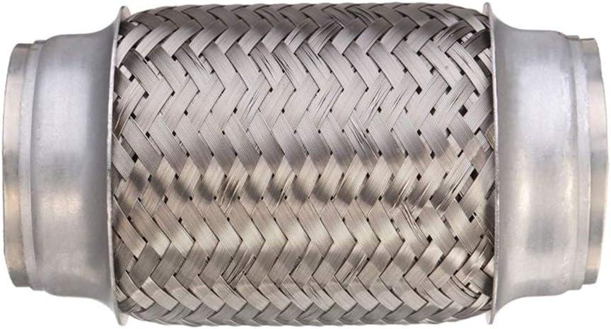 B Baosity Tuyau Flexibles d/Échappement en Acier Inoxydable /à Double Tresse,2,36x6 R/éduire Bruit