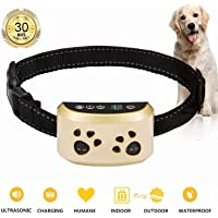 AHJDL Bark Collar Adjustable Dog Bark Collar Anti-Barking Collar for Small Medium and Large Dogs