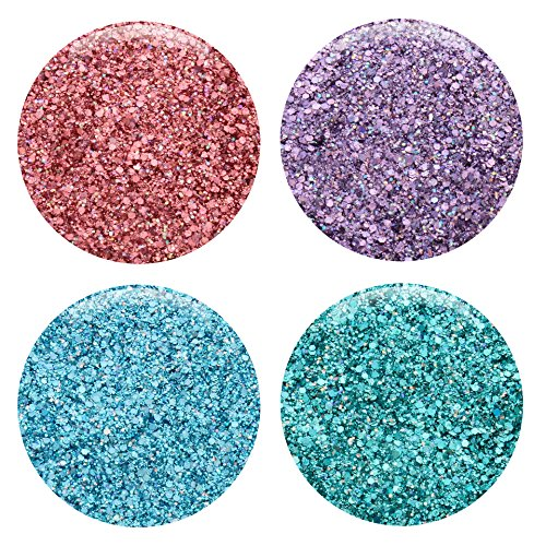 Mixed Glitter 20 Piece Kit – Includes Solvent Resistant Dust, Powder, Hexagon, Holographic, Matte Glitters - Great for Nail Art Polish, Gels, Art and Crafts, Paints & Acrylics Supplies - 1/4 OZ Jars by Glitties (Image #2)