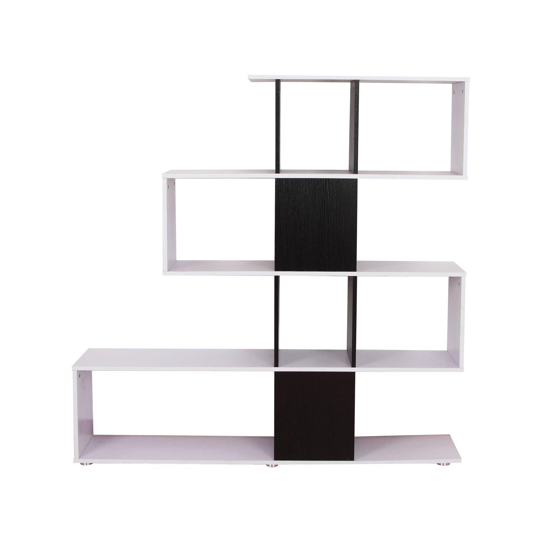 Homcom - Libreria di Design in legno 145x30x145cm - Mobili Ufficio ...