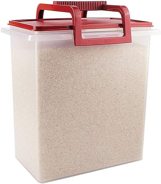 Z-Storage Contenedor De Plastico, Cereales Lock & Lock Barril De Arroz 10L con Tapa Caja De Almacenaje Sello A Prueba De Humedad Adecuado for Grano Y Harina: Amazon.es: Hogar